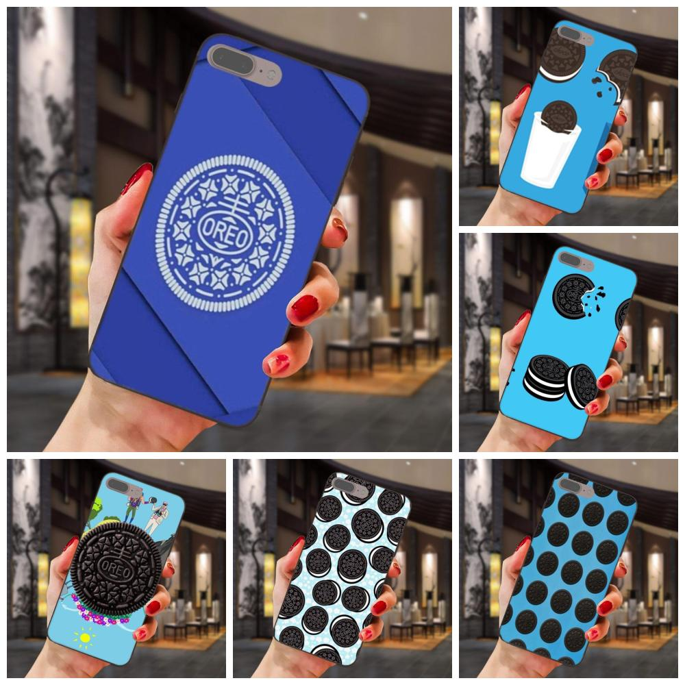 For Huawei Honor Enjoy Mate Note 6s 8 9 10 20 P20 P30 Lite Play Pro P smart Slim Silicone Case Blue Black White Oreo Cookie image