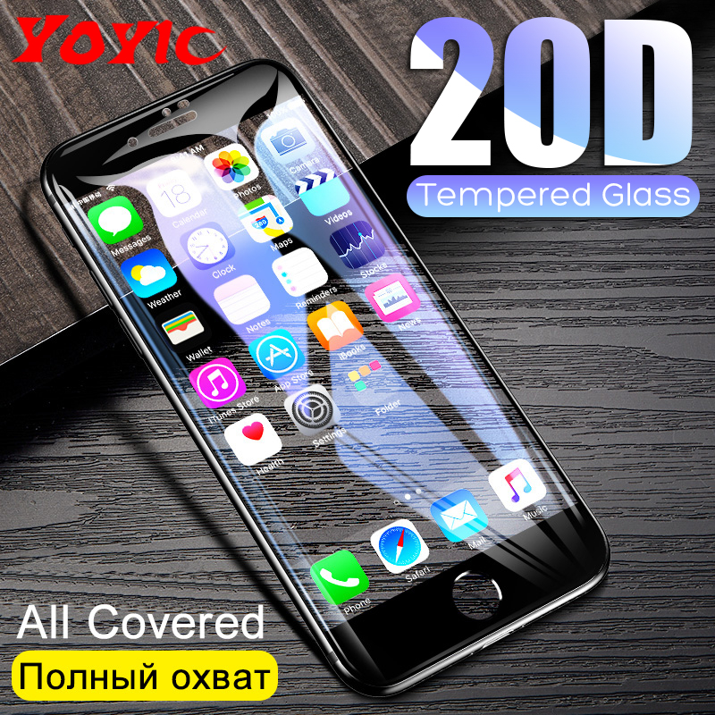 20D Protective Tempered Glass On The For iPhone 6 6s 7 8 Plus X Glass Screen Protector Film For iPhone X XR Xs Max Glass Cover-in Phone Screen Protectors from Cellphones & Telecommunications