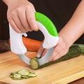 Forma Redonda giratoria Cocina Cuchillos Multifunción Cortador de Verduras Carne Utensilios de Cocina de Acero Inoxidable Cuchillo de Corte de Torta de La Pizza