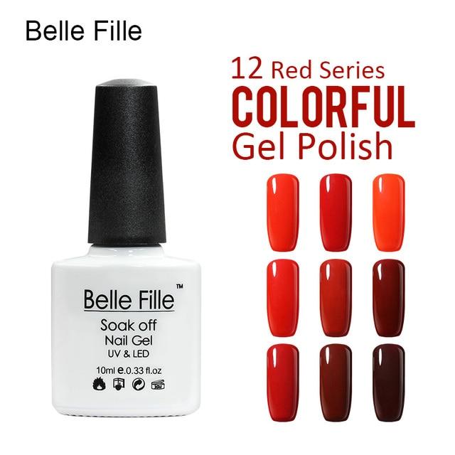 Belle Fille Color Gel Polish Nail Gel Polish Rose Red Series Wine
