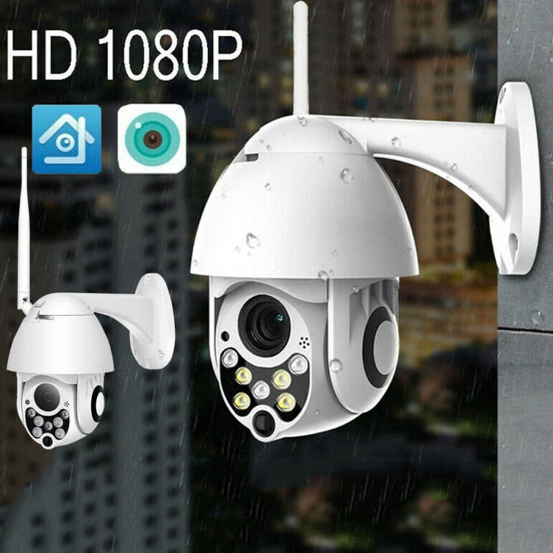 1080 P Full HD Kamera Outdoor Speed Dome Kamera Keamanan Nirkabel Wifi Pan Tilt 4X Zoom IR Network CCTV Surveillance rumah Probe