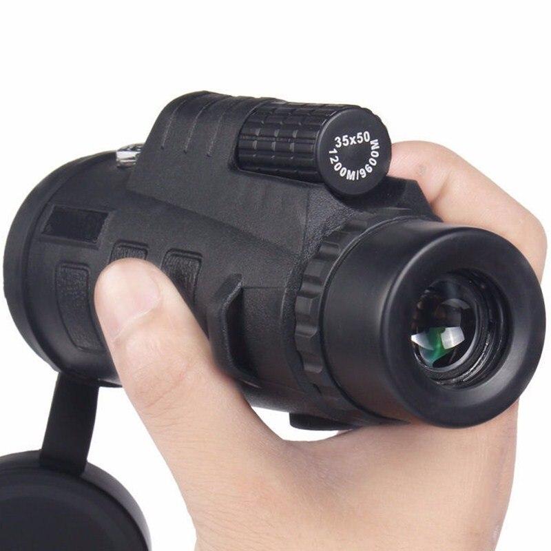 Alta calidad 35x50 Teleskop monóculos de poder binoculares telescopio óptico monóculo Spyglass monóculo campamento de viaje de caza