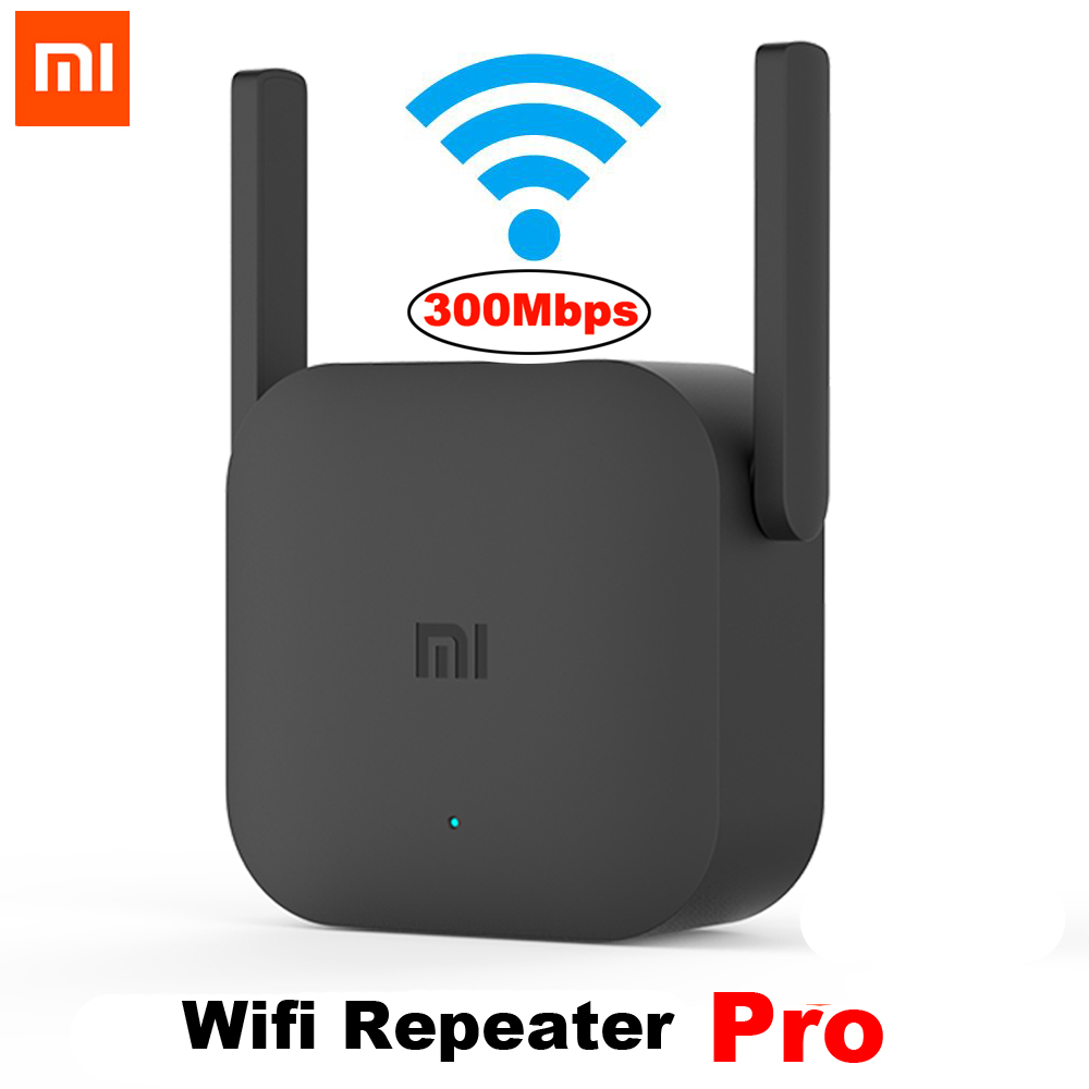 Xiaomi Mijia WiFi Repeater Pro 300M Mi Amplifier Network Expander Router Power Extender Roteador 2 Antenna for Router Wi Fi-in Wireless Routers from Computer & Office