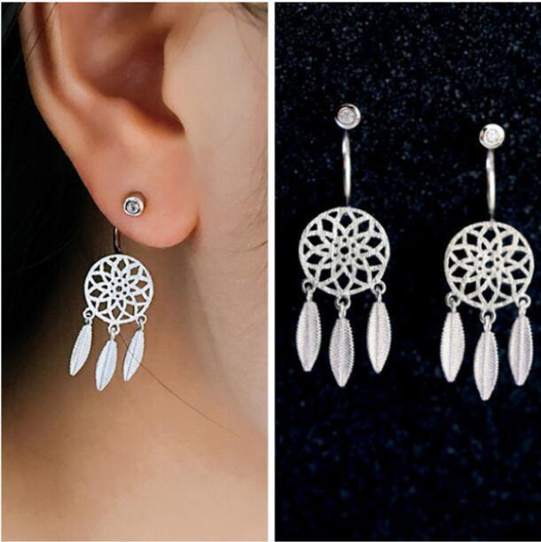 Shuangshuo Vintage Tassel Earrings 2017 Dreamcatcher With Feathers Stud  Earrings for Women Tassel Earings Fashion Jewelry S080