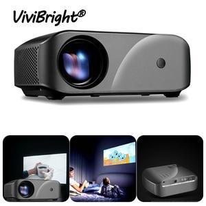Image 1 - Tragbare F10 MINI Projektor 1920*720P Auflösung LED Projektor Für Home Cinema Unterstützung Full HD Tragbare 3D Beamer EU/Us stecker