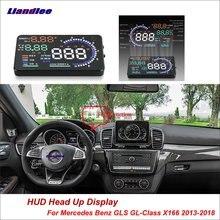 купить Liandlee Car HUD Head Up Display For Mercedes Benz GLS GL-Class X166 2013-2018 Safe Driving Screen OBD Projector Windshield дешево