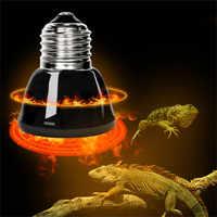 E27 Pet Heating lamp Black Infrared Ceramic Emitter Heat Light Bulb Pet Brooder Chickens Reptile Lamp 25W 50W 75W 100W 220-240V