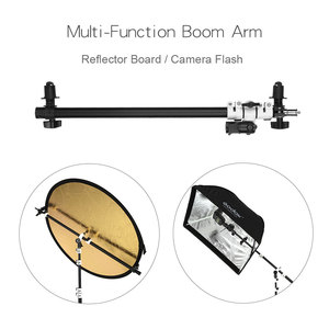 Image 4 - Reflector Arm Flash Light Support Holder Bracket Swivel Head  with Telescopic Boom Arm for Speedlite Mini Flash Strobe