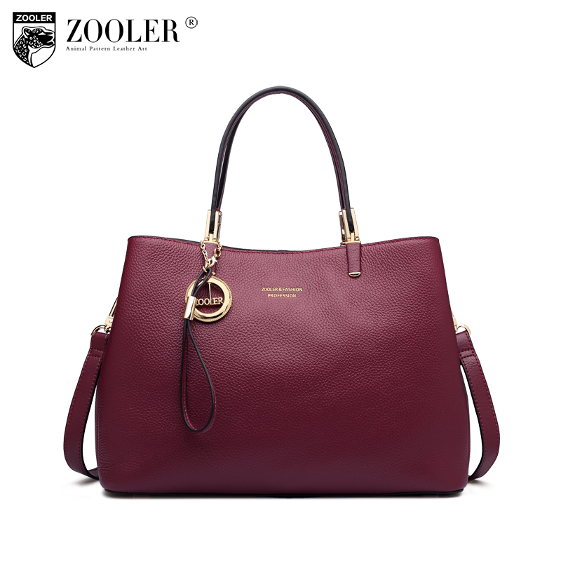 ZOOLER genuine leather bag women leather handbags luxury top handle bags WINE elegant women bags designer bolsa feminina H135 hottest new woman leather handbag elegant zooler 2018 genuine leather bags top handle women bag brand bolsa feminina u500