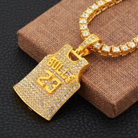 2018 New Hiphop Goofan No. 23 shirt High Quality Pendant Necklace Alloy Fashion Jewelry For Men Women Gift AN538