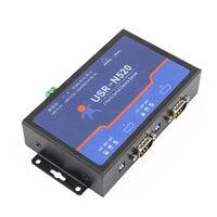 Q18040 USR-N520 직렬-이더넷 서버 tcp ip 변환기 이중 직렬 장치 rs232 rs485 rs422 다중 호스트 폴링