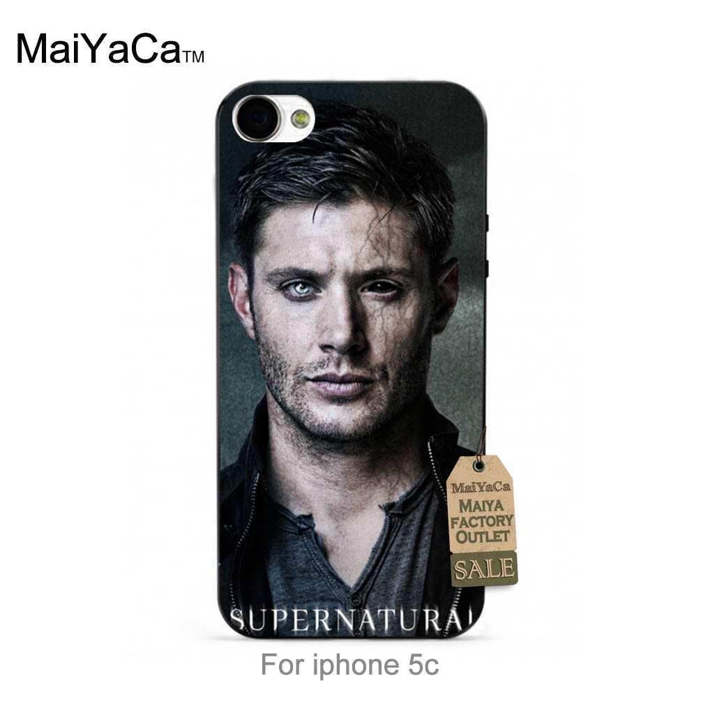 MaiYaCa Black tpu silicone <font><b>Supernatural</b></font> Dean Winchester <font><b>phone</b></font> <font><b>case</b></font> For <font><b>case</b></font> iPhone 5s 6s 6splus 7 7plus