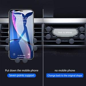 Image 5 - Upgrade Model Auto Telefoon Houder Ondersteuning Zwaartekracht Beugel Auto Gadget Anti Slip Auto Air Vent Amout Telefoons Automobiel Auto Accessoires