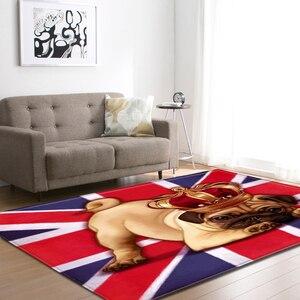 Image 1 - Cartoon Large Living Room Carpet 3D Pet Shapi Dog Tea Table Rugs Home Decor Baby Crawling Mat Kid Bedroom Area Rug Carpet