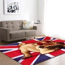 Grand tapis 3D dessin animé pour animaux de compagnie, Table de thé chien et Shapi, décoration dintérieur, tapis rampant pour chambre denfant