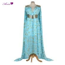 Daenerys Targaryen's Long Blue Dress for Cosplay