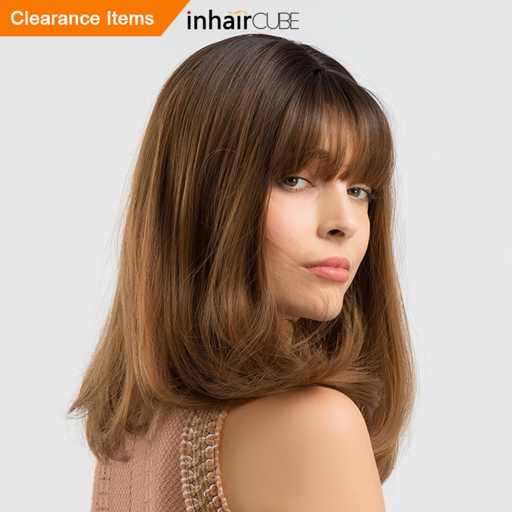 Synthetic None-lacewigs Sporting Inhair Cube 26 Inch Womens Wigs Long Natural Wave Synthetic Layered Style Hair Light Brown With Full Wigs Synthetic Wigs