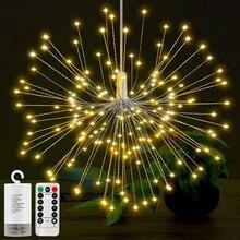 200 светодиодный светильник s водонепроницаемый теплый белый фейерверк AA на батарейках медный провод Рождественская Свадебная вечеринка гирлянда Сказочный светильник