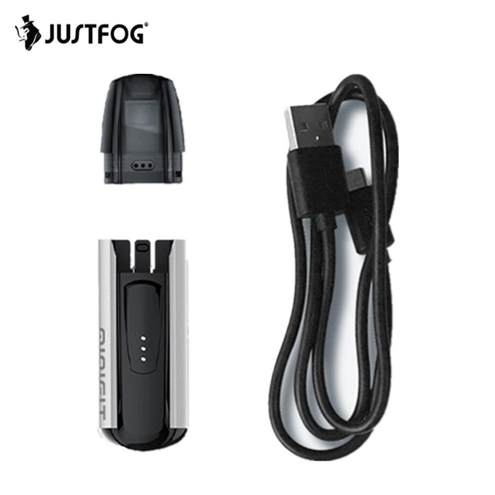 Justfog Minifit Pod 370 mAh batterie intégrée Kit de démarrage de Cigarette électronique Kit de cartouche de dosette de capacité 1.5 ml VS brise Aio