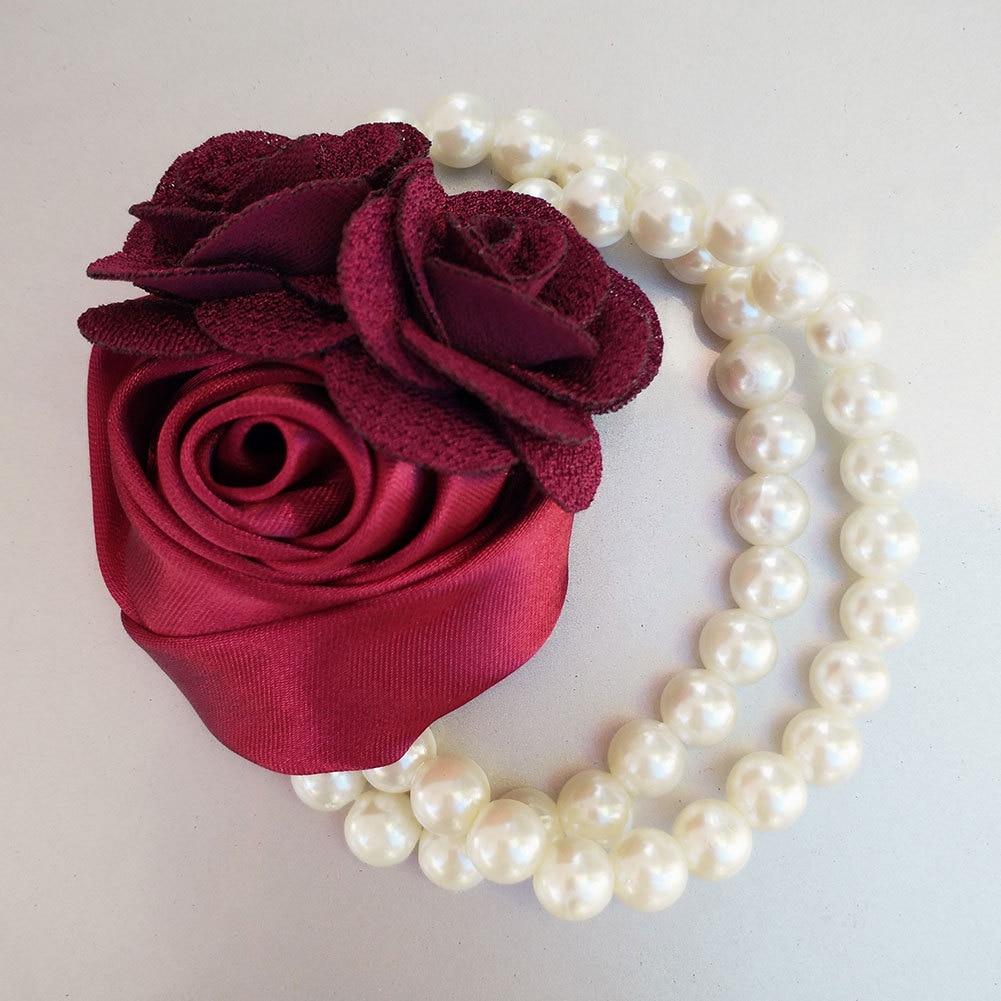 Violet Bridesmaids Wrist Corsage Lavender Wrist Corsage Flower Girl Accessories Flower Hand Bracelet Bridesmaids Flower Accessories