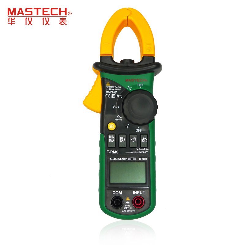 Aimometer MS2108 True RMS AC/DC Current Clamp Meter 6600 Counts 600A 600V