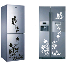 Free Shipping High Quality Wall Sticker Creative Refrigerator Sticker Butterfly Pattern Wall Stickers Home Decor Wallpaper
