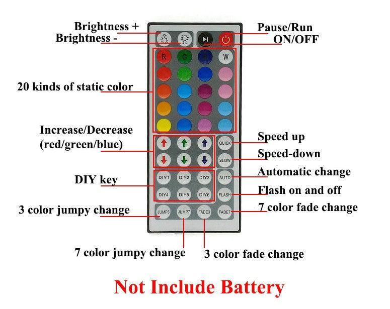 10M SMD 3528 RGB СИД жолағы жиынтығы 12V DC қуат - LED Жарықтандыру - фото 4