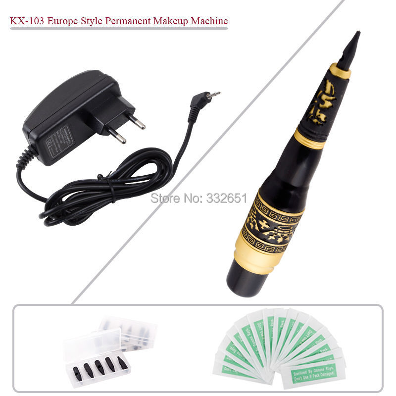 Chuse kx 103 eyebrow tattoo kit permanent makeup pen for Tattoo pen kit