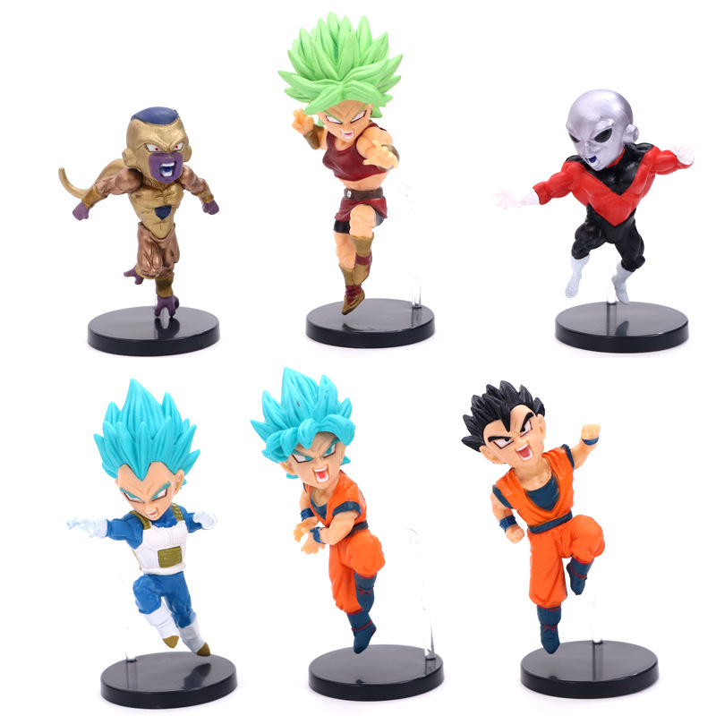 6 Pcs Set Dragon Ball Z Broly Frizza Goku Vegeta Gohan God Super