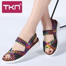 TKN 2019 mujeres de verano Sandalias de plataforma zapatos de cuero de cuña  de gamuza Sandalias Mujer Sandalias zapatos de mujer. 82e0aca65827