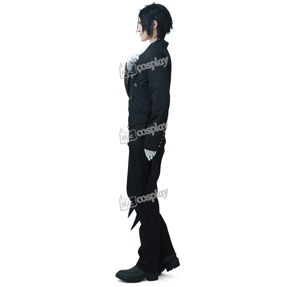anime new hot black butler sebastian michaelis cosplay costume