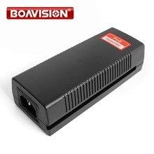 Inyector Poe de 48V y 30W, salida completa de 100Mbps de potencia sobre Ethernet, adaptador PoE de iluminación de apoyo, protección de 802,11G