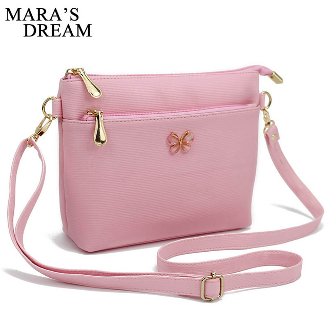 21f8771b16 Mara s Dream Cute Bow Small Handbags PU Leather Women Evening Clutch Ladies  Mobile Purse Famous Shoulder Messenger Crossbody bag