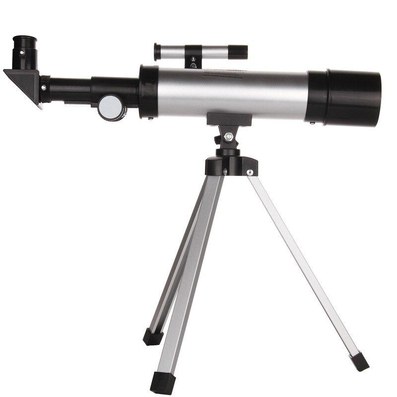 1 pc 90 Fois de Réfraction Astronomique Télescope 50mm Finder Portée Lunette avec Trépied Astrophile D'observation Spatiale Outils