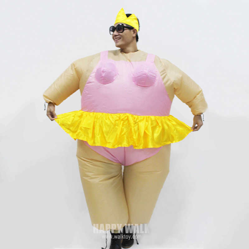 Halloween Costumes 2019 Adults.Onesie Promotion 2019 Newest Inflatable Ballet Costume Halloween Party Funny Fat Man Fancy Animal For Adults With Free Shipping