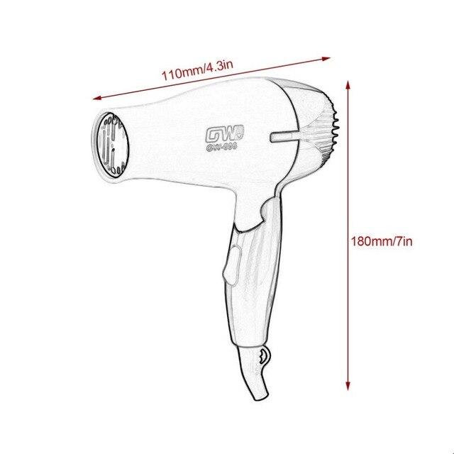 GW-686 1Pc Mini Portable sèche-cheveux pliant pliable Compact voyageur ventilateur faible puissance école étudiants Air souffleur