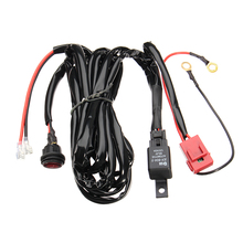 Universal Car 12V 40A LED Hid Fog Spot Work Driving Loom Work Fog Light Bar Wiring Harness Relay Kit ON/OFF Switch Off Road