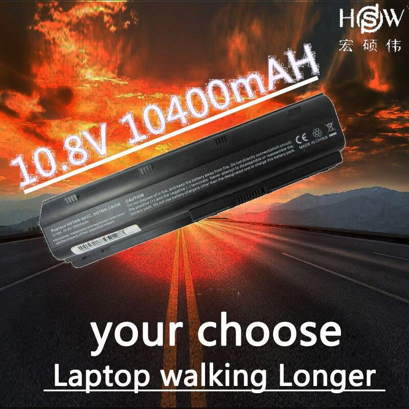 HSW batterie d'ordinateur portable pour hp pavilion DM4 DM4T DV3 DV5 DV6 DV6T DV7 G4 G6 G7 G62 G62T G72 MU06 HSTNN-UBOW CQ42 CQ56 CQ62 batterie