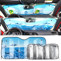 Auto   Sun Visor Car SunShade Durable Windshield Sunshade Solar Protection Front Windshield Retractable 40x60cm Portable