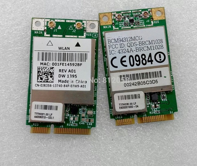 Dell oem 1395 802. 11 b/g wifi wlan wireless card jr356.