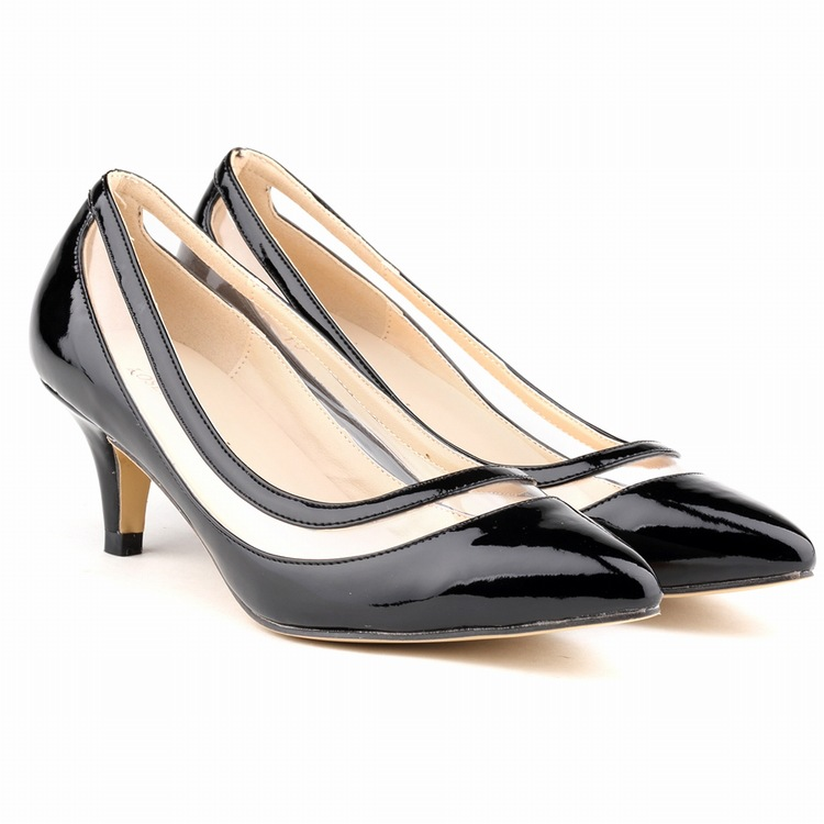2016 Women Pumps Plus Size 42 Fashion Sexy Pointed Toe Thin High Heels Hot Sale Shoes Woman Black Apricot Red low heel bowknot pointed toe women pumps flock leather woman thin high heels wedding shoes 2017 new fashion shoes plus size 41 42