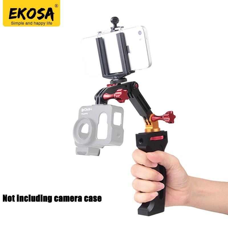 EKOSA selfie stick stabilizer for gopro hero 5 6 4 3 xiaomi yi 4k Eken H9 gimbal smooth q For sjcam sj4000 go pro 5 accessories wewow sport x1 handheld gimbal stabilizer 1 axis for gopro hreo 3 3 4 smartphone iphone 7 plus yi 4k sjcam aee action camera