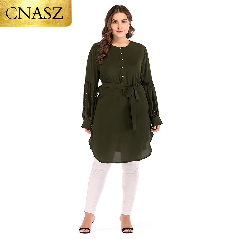 6xl Arabic long top dubai abaya chiffon fabric long sleeve tunics lady islamic clothing for women
