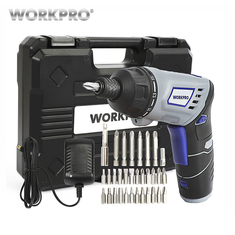 WORKPRO 3.6V Electric Screwdriver Cordless Screwdriver Rechargeable Lithium Battery Screwdriver