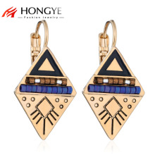 Earrings Ethnic Triangle Double