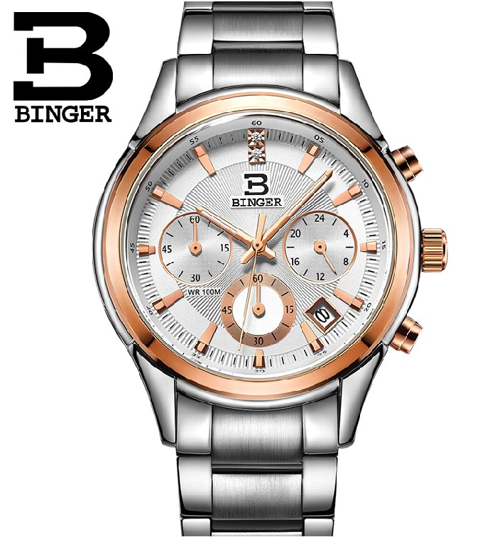Fashion New 2015 Men Gold Watches  And Women Lovers Table Military Chronograph Sports Watch Men's Quartz Stainless Steel