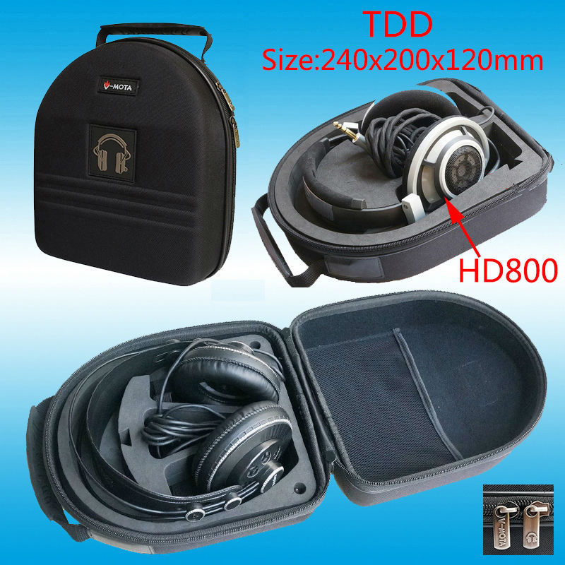 V-MOTA TDD Headphone Carry case boxs For Onkyo A800 and PHILIPS Fidelio X1 and Fidelio X2 SHP9000 headphone(headset suitcase)