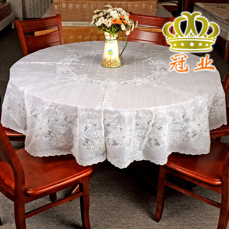 Bon Round Table Cloth Table Cover 134cm 152cm And 185cm In Diameter Round  Tablecloth Luxury Table Cloths For Weddings Free Shipping In Tablecloths  From Home ...