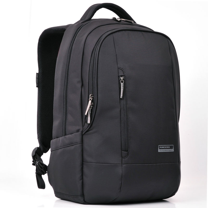 Kingsons Black Business Men's Backpack 15.6 inch Laptop Computer Backpack Male Daily Rucksack Men School Bag for Teenagers Boys swisswin black school backpack for teenagers girls boys waterproof travel bag swiss 13 3 inch laptop backpack gear backpack male