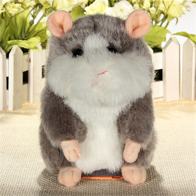 Cute Pet Talking Hamster Pet Plush Toy Hot Cute Speak Talking Sound Record Hamster Educational Toy for Children Gift